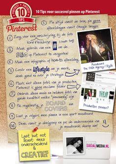 10 tips voor succesvol pinnen op Pinterest [infographic]