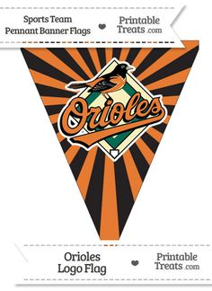 Baltimore Orioles Pennant Banner Flag from PrintableTreats.com