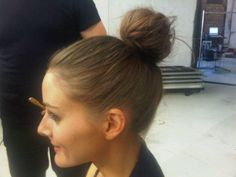 olivia palermo with the most amazing bun