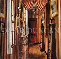 Interior rendering of the corridor in Emilio Terry's apartment 1990 - Alexandre Serebriakoff
