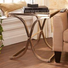 Southern Enterprises Vogue End Table - Champagne Brass - HN5136-2