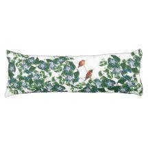 Hummingbird Birds Flowers Floral Body Pillow