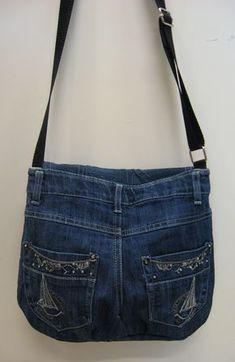 Kierrätys farkkulaukku - Recycled jeans bag #diyjeanstutorials