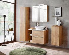 Szafka wysoka FORT 800 dąb złoty - MEBLINE.PL Capri, Double Vanity, Led, Bathroom, House, Home Decor, Magenta, Products, Bathing