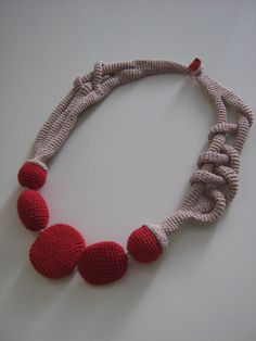 Crochet necklace by Suzann61 on Etsy, $40.00