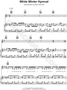 White winter hymnal chords