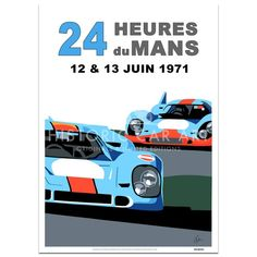 SPEED ICONS: Le Mans 24 Hours 1971   Porsche   Poster