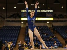 Junior Bekah Gher's sixth-place finish on the beam was the Spartans' best individual event finish of the meet. (Photo by Terrell Lloyd) #SJSU #SpartanSports