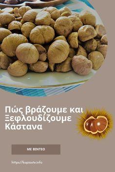 Τα κάστανα, παρόλο που κατατάσσονται στους ξηρούς καρπούς, εντούτοις είναι είναι το φρούτο που παράγεται από την καστανιά (castanea), η οποία φυτρώνει σε εύκρατα κλίματα. Θα μάθουμε πώς να τα βράσουμε και να τα ξεφλουδίσουμε εύκολα.