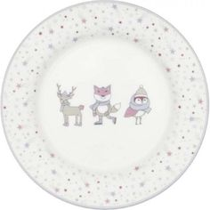 Kinderteller - Kids plate - Forrest lavender von Greengate Kids Plates, Decorative Plates, Tableware, Kawaii, Meal, Essen, Kids, Dinnerware, Dishes