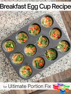 Ultimate Portion Fix Egg Cup Recipe — The Foodie's Fit Home Whole Food Recipes, Snack Recipes, Healthy Recipes, Healthy Meals, Snacks, Breakfast Bites, Breakfast Recipes, 21 Day Fix Meal Plan, Taste Made