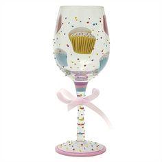 Cupcake wine glass....i'll be making one similiar!