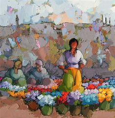 Prismacolor, Modern Art, Acrylics, Artist, Flowers, Painting, People, Florists, Pen And Wash