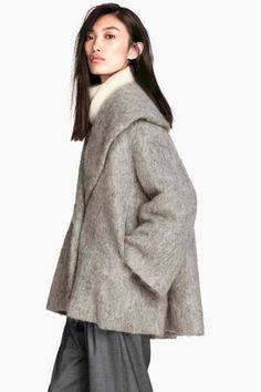 Veste ample en laine mélangée