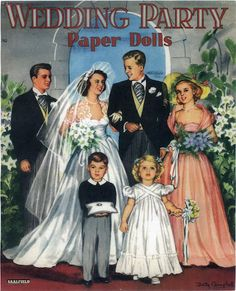 Miss Missy Paper Dolls: Wedding Party Paper dolls