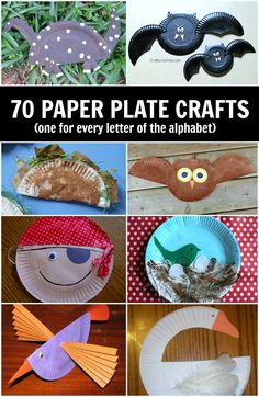 70+ Paper plate crafts for kids! One for every letter of the alphabet and tons more.