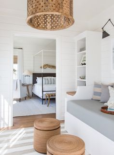 Coastal decor, beach art and furniture. You can improve the natural beauty in your home with splashes of white, as well as beach house decorating ideas. Coastal Bedrooms, Coastal Homes, Coastal Decor, Coastal Interior, Modern Coastal, Teen Bedrooms, Modern Bedrooms, Coastal Style, Modern Interior
