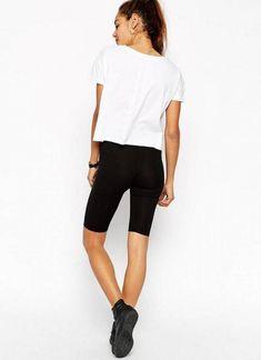 Shop the latest ASOS PETITE Basic Legging Shorts trends with ASOS! Basic Leggings, Capri Leggings, Tweed, Fashion Online, Bermuda Shorts, Asos, Sporty, Shopping, Style