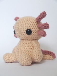 Adorable axolotl by Maffers (pattern for sale on Ravelry)