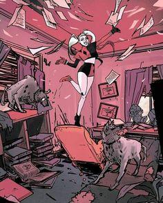 ◇ lets hit them with the hein ◇: Photo Der Joker, Harley Quinn Comic, Joker And Harley Quinn, Nightwing, Red Hood, Gotham Girls, Damian Wayne, Jason Todd, Batman Art