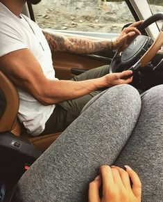 Going on a road trip with the one I love.......beard, couple, drive, goals, love, couple goals, luxury life