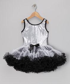 Popatu by Posh Silver Sequin Sparkle Ruffle Dress - Toddler & Girls by Popatu by Posh #zulily #zulilyfinds