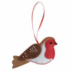Picture of Felt Decoration Kit: Christmas: Robin Owl Christmas Tree, Christmas Crafts, Christmas Ornaments, Christmas Wreaths, Xmas, Cute Christmas Decorations, Felt Decorations, Penguin Ornaments, Felt Ornaments
