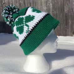 Crochet Shamrock pattern / Four leaf Clover St. Patricks Day | Etsy Crochet Snowflake Pattern, Crochet Leaves, Crochet Beanie Pattern, Crochet Patterns, Crochet Hats, Easy Crochet, Free Crochet, Yarn Over, Yarn Needle
