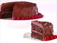 Get this all-star, easy-to-follow Chocolate-Raspberry Layer Cake recipe from Giada De Laurentiis