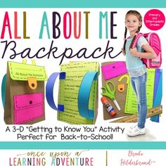 This super-cute paper backpack craft and learning activity is a great way to build community with your students! It also helps students develop the critical skills of following step by step directions and speaking and listening to members of a group!  This product includes step by step directions with photos, printable craft templates for both primary and intermediate grade students, and a parent letter so that your students' families get involved in the project as well. Templates are…