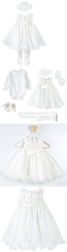 Christening 139762: Taffy Baby Christening Baptism 3D Flower Dress Gown 6 Piece Deluxe Set 0-3M -> BUY IT NOW ONLY: $35.99 on eBay!