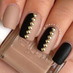 manicure, nails, polish, rhinestones