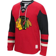 Chicago Blackhawks Red CCM Long Sleeve Jersey Crew Tshirt XLarge >>> You can find more details by visiting the image link.