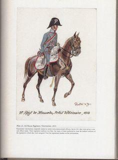 Hussars: Plate 16: 3rd Hussar Regiment. Veterinarian, 1810.