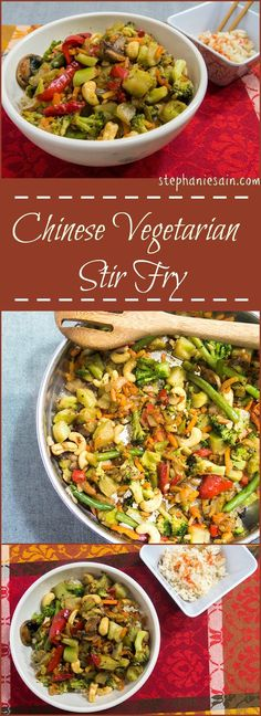Chinese Vegetarian Stir Fry is a quick, tasty, healthy dinner perfect for any…