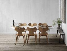 Fritz Hansen - Revitalised Table Series™. Designed by Piet Hein, Arne Jacobsen & Bruno Mathsson in 1968