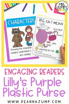 Lilly's Purple Plastic Purse is a great read aloud for back to school. With these Lilly's Plastic Purse activities, students will be more engaged with the story, while also practicing important reading comprehension skills.