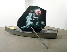 Lothar Hempel - Endlose Reise (EndlessJourney), 2006,(HQ PHOTO) boat, MDF, photographicpaper, lights, 196 x 210 x 370cm / 771/8 x825/8 x 1455/8 ins,