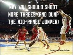 Why You Should Shoot More (and Dump The Mid Range Jumper) - Hoops Fiend Indoor Basketball, Basketball Tips, Basketball Court, Team S, Best Player, Theory, Improve Yourself, Jumper, Range