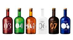 "Blossa Glögg: ""A bottle that is shorter and rounder than other Blossa products. The shape of the bottle is kept from year  to year, with the colours and typography changing to reflect that particular year's design and flavour."""