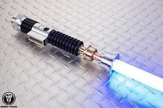 From the hands of the legendary master, comes the Redeemer custom saber! Not star wars obi anh aotc jedi sith lightsaber. Sith Lightsaber, Skywalker Lightsaber, Lightsaber Design, Custom Lightsaber, Anakin Skywalker, Star Wars Episode 2, Episode Iv, Obi Wan, Star Wars Timeline