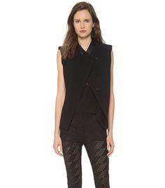 Fitted Sleeveless Jacket via @WhoWhatWear