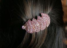 Hair clip crystal: jewel on your head.