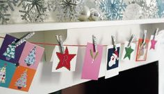 Another card display idea.  Yes to glitter clothes pins!