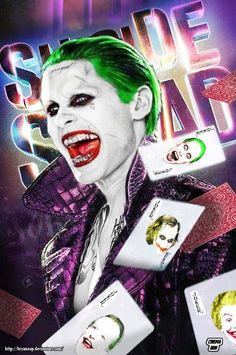 Suicide Squad Joker Cards by Bryanzap