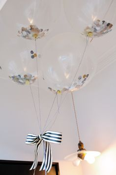 Confetti Balloons! We carry them: http://shop.thetomkatstudio.com/collections/balloons