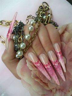 PINK STILETTOS by Agusia - Nail Art Gallery nailartgallery.nailsmag.com by Nails Magazine www.nailsmag.com #nailart