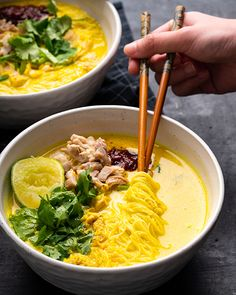 Marion's Kitchen is packed with simple and delicious Asian recipes and food ideas. Kitchen Recipes, Gourmet Recipes, Healthy Recipes, Brothy Soup Recipes, Fresh Turmeric, Rice Vermicelli, Asian Recipes, Ethnic Recipes, Indonesian Food