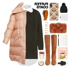 """""""oversized puffer coat"""" by jesuisunlapin ❤ liked on Polyvore featuring Balmain, Acne Studios, NLST, OLYA SHIKHOVA, Benedetta Bruzziches, Sam Edelman, Claudio Riaz, Sole Society, Ladurée and Kate Spade"""