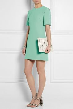 Mint crepe Concealed hook and zip fastening at back 100% polyester; lining: 100% rayon Dry clean